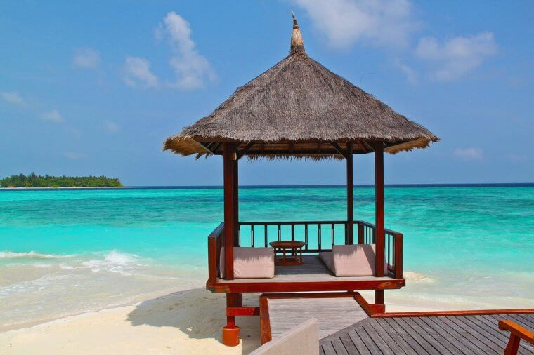 リゾートの海
