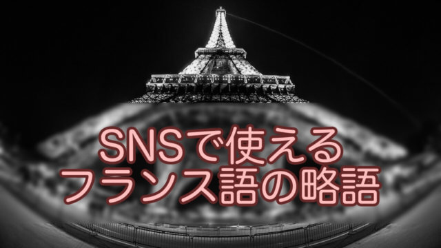SNSフランス語