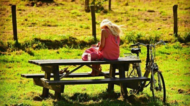公園で一息